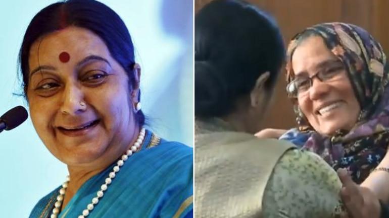 Madam did everything: Watch Hamid Ansari's mom thank Sushma Swaraj for son's return from Pakistan