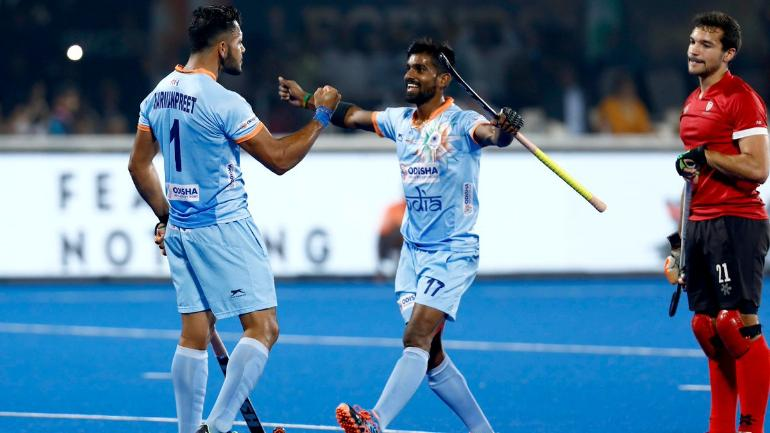 India and Australia are the only two unbeaten teams in the competition so far (Hockey India Photo)
