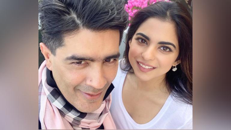 Isha Ambani with Manish Malhotra