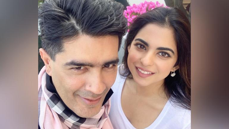 Manish Malhotra with Isha Ambani