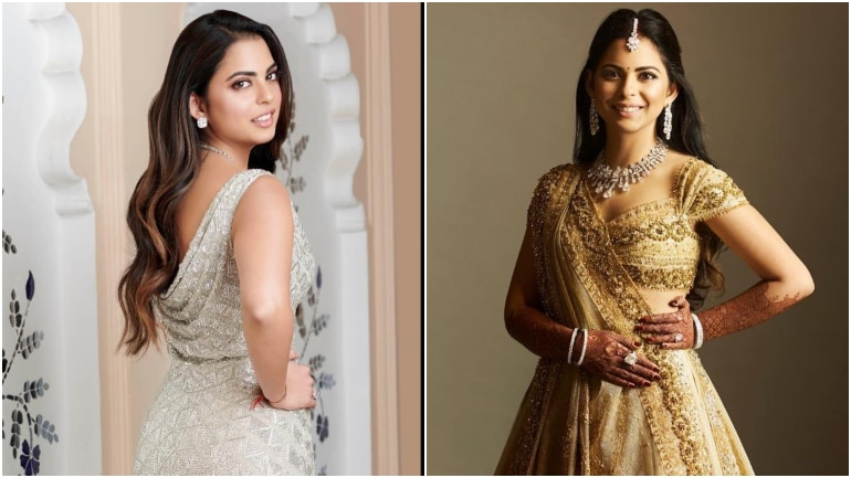 Unseen pics of Isha Ambani at her sangeet and reception