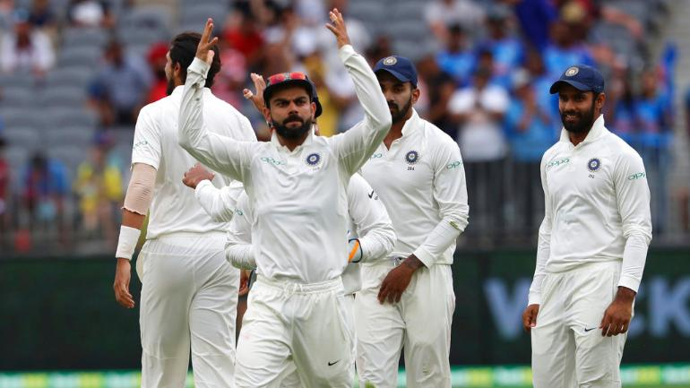 Virat Kohli was slammed by former Australian pacer Mitchell Johnson after his on-field spat with Tim Paine in the Perth Test (AP Photo)