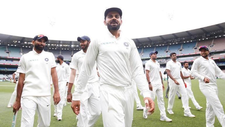Virat Kohli led India's victory lap at the MCG after the Boxing Day Test on Sunday (@BCCI Photo)