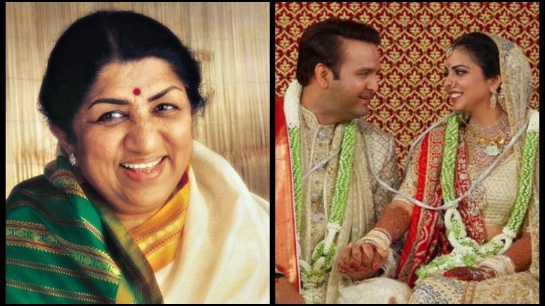 Lata Mangeshkar sings Gayatri Mantra at Ambani wedding