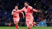 Watch: Lionel Messi scores two stunning free kicks as Barcelona thrash Espanyol