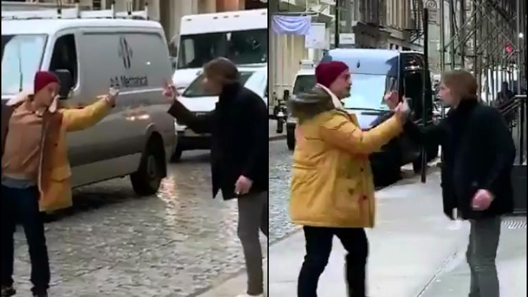 Middle finger fight video that went viral was fake.