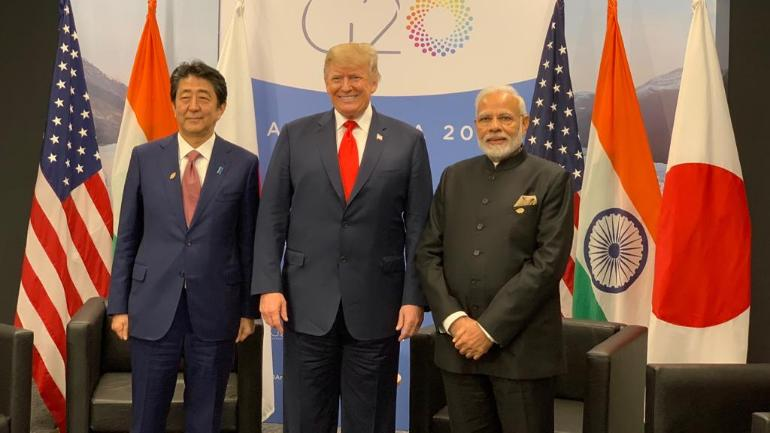 ¿Cuánto mide Shinzo Abe? - Real height Modi-trump-abe