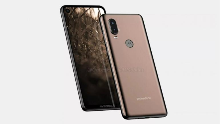 Motorola P40 renders leak, reveal hole-punch notch and Android One branding