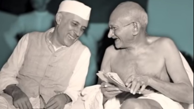 The Picture Is Believed To Be At All India Congress Committee Meeting In Mumbai Then Bombay 1946 Screengrab