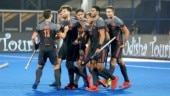 Netherlands celebrate their victory over Australia (Photo tweeted by @TheHockeyIndia)