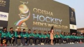Pakistan hockey team players visited the Fan Park at the Kalinga Stadium on Thursday (@sports_odisha Twitter Photo)