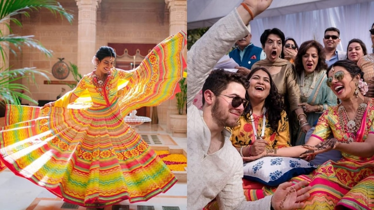 What Priyanka Chopra and Nick Jonas wore to their mehendi