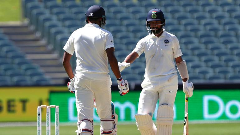 Cheteshwar Pujara waged a lone battle for the most part of Indian innings on Day 1 in Adelaide (AP Photo)