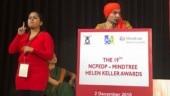 Satyapal Singh speaking as chief guest of NCPEDP Mindtree Helen Keller Awards 2018. (Image: Twitter/NCPEDP)