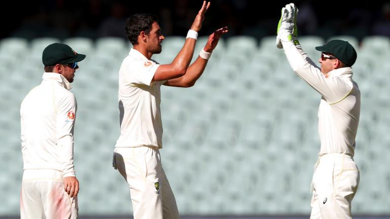 Mitchell Starc bowled 19 overs on the first day, picking up 2 wickets for 63 runs (AP Photo)