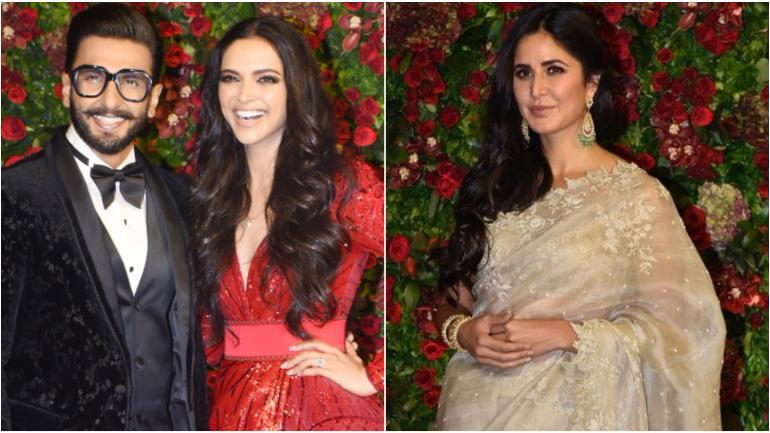 Ranveer Singh with Deepika Padukone (L) and Katrina Kaif