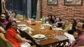 Sushmita Sen celebrates dad's birthday with kids and Rohman Shawl joins in. Watch video