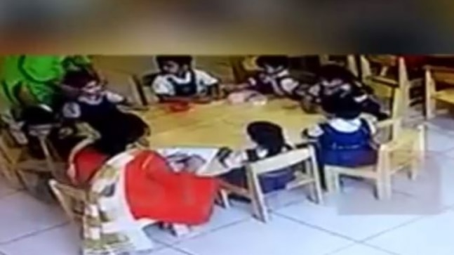 Watch: Gurgaon teacher puts sellotape on mouths of 2 LKG students to keep them quiet