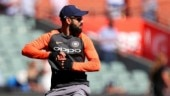Virat Kohli trains with his India teammates ahead of the second Test vs Australia in Perth (AP Photo)