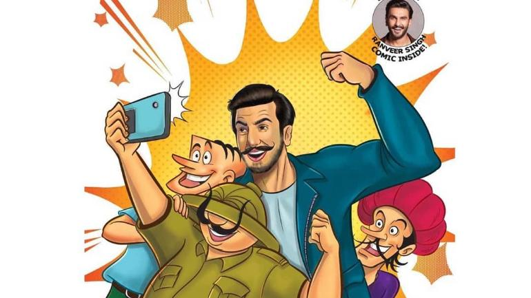 Ranveer Singh shared the cover of Tinkle Magazine on his Instagram account
