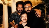 Jr NTR, Ram Charan and Akhil Akkineni share a memorable moment together. See pic