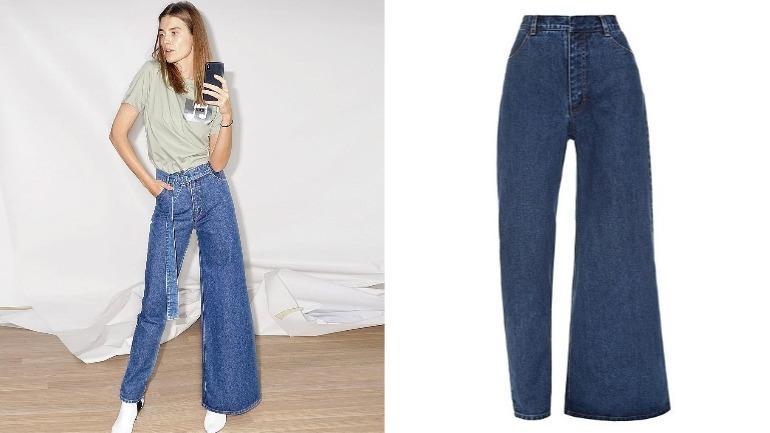 Asymmetric Pants Photo:Instagram/kseniaschnaider