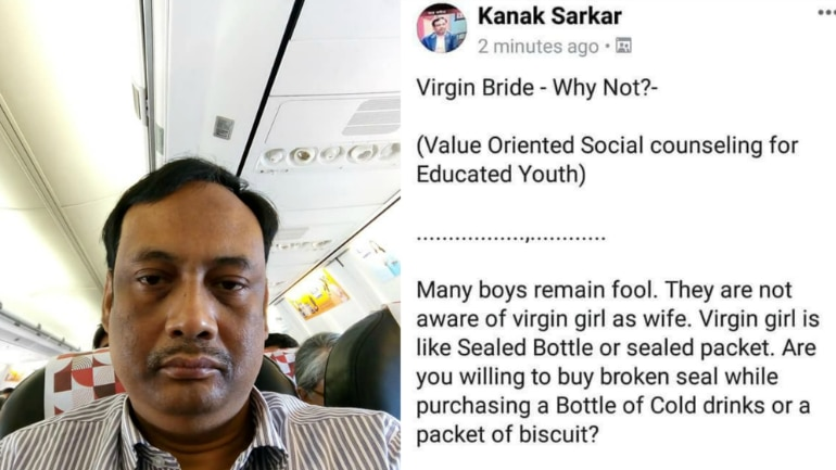 Will You Buy Cold Drink With Broken Seal Kolkata Professor Bats For Virgin Brides On Fb Then -4543
