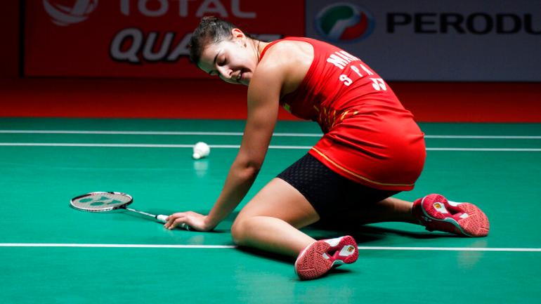 Image result for Saina Nehwal wins Indonesia Masters after Carolina Marin's injury
