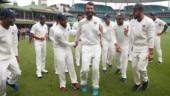 Cheteshwar Pujara just can't dance: Watch India stars celebrate historic win