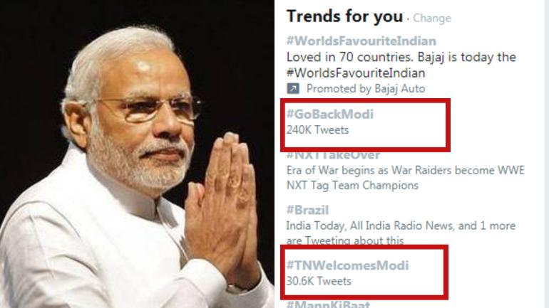 PM Modi caught in Twitter storm for his Tamil Nadu visit - India News