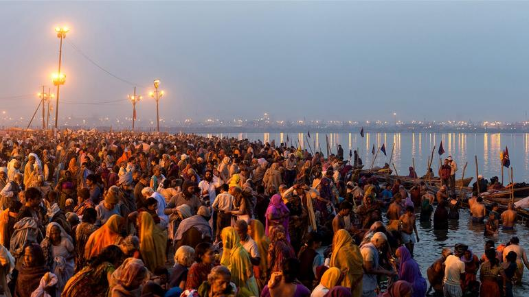 Kumbh Prayagraj mela is the largest gathering of humanity in the world. It is a Hindu festival celebrated four times in every 12 months.