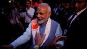 MDMK neta Sathiyaraj Balu held for picture showing PM Modi carrying begging bowl