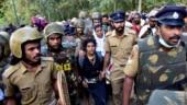 sabarimala protest bindu Kanakadurga