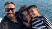 Ajay Devgn shares adorable photo with kids Nysa and Yug: Smiling when I look at this