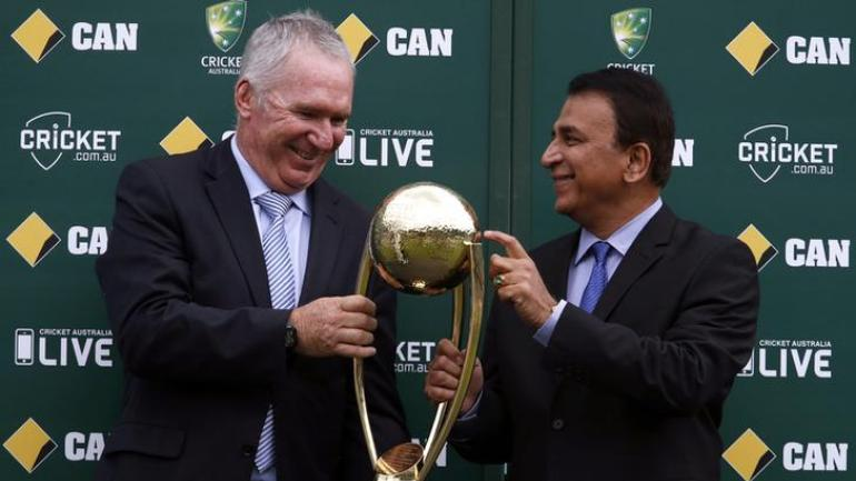 The Border-Gavaskar Trophy was first played in 1996 in honour of batting greats from Australia and India — Allan Border and Sunil Gavaskar (Reuters Photo)