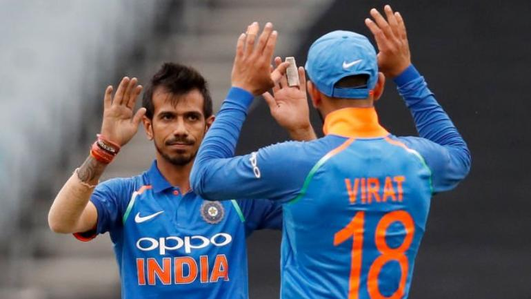 Yuzvendra Chahal, playing his first match of the three-ODI series, made an immediate impact at the MCG (BCCI Photo)