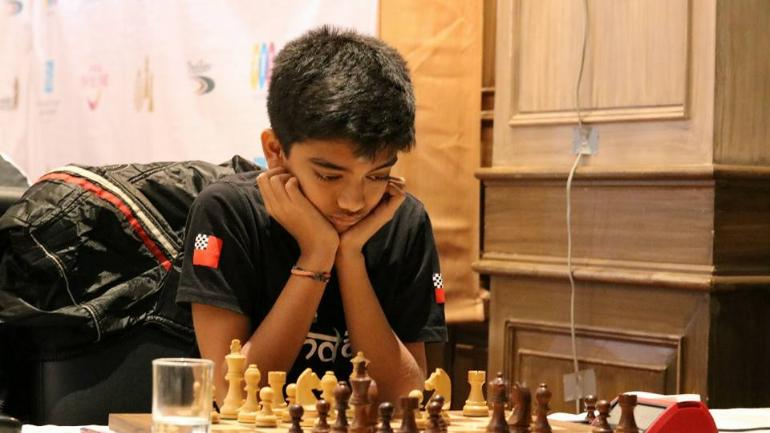 The title sits lightly on his shoulder as Gukesh wants to focus on improving his game and ratings to compete at elite events with top-ranked players (@ChessbaseIndia Photo)