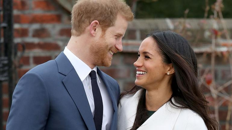 Pregnant Meghan Markle with Prince Harry