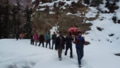 Snow? No problem. Himachal villagers give 70-year-old palanquin ride to hospital