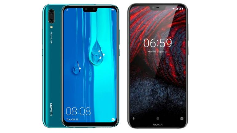 Huawei Y9 (2019) vs Nokia 6 1 Plus: One offers big display
