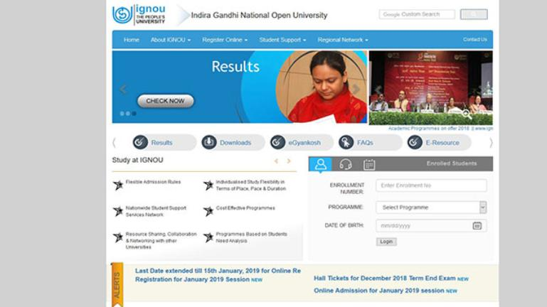 IGNOU January Registrations 2018-19: Last date extended, 5 quick steps to apply online