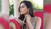 Manushi Chhillar is a vision to behold in ravishing plunging neckline gown