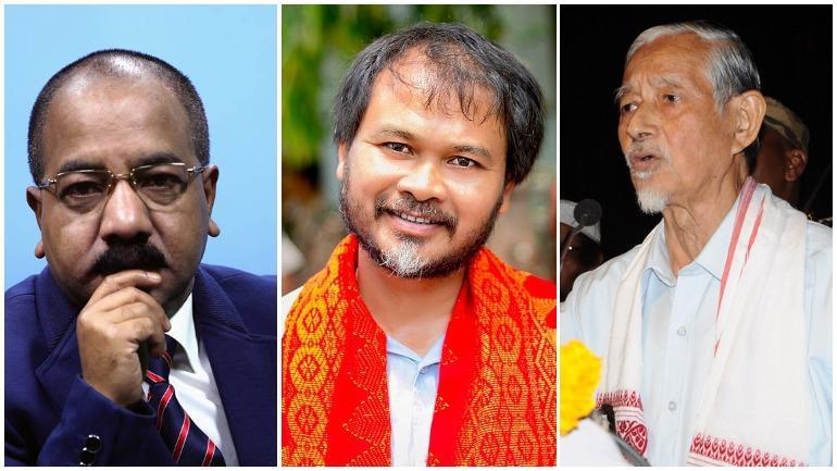 Manjit Mahanta, Akhil Gogoi and Hiren Gohain