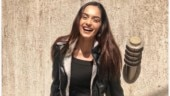 Manushi Chhillar is smoking hot in black leather jacket and mini skirt
