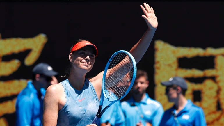 Australian Open Maria Sharapova Beats Harriet Dart 6 0 6 0 In