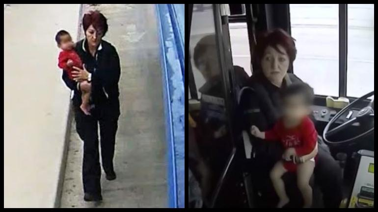 U.S.  bus driver rescues abandoned toddler wandering on street