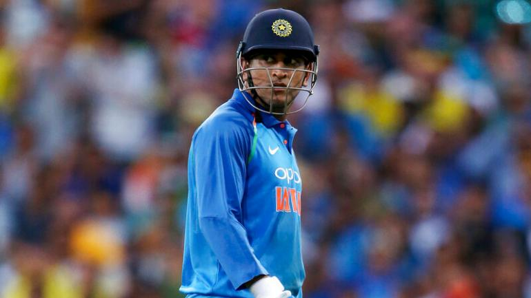 India vs Australia, 1st ODI: MS Dhoni was struggling to put bat to ball during the early stages of his 137-run stand with centurion Rohit Sharma on Saturday (AP Photo)