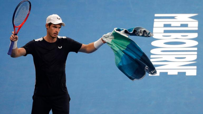 Andy Murray went down fighting in the first round of the Australian Open (AP Photo)