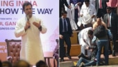 Photographer falls. Rahul Gandhi hurries to his rescue, wins hearts. Watch video
