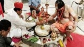 Rajasthan's only Muslim minister performs half-an-hour puja at Shiva temple